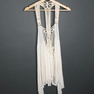Free People Boho Crochet Tunic Small